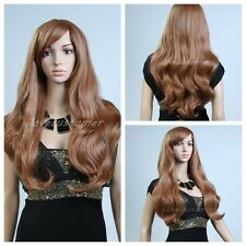 2016 Women Long Curly Brown Heat Hair Wig Daily Cosplay Party Wigs Cosplay Wigs