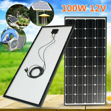100W 12V Solar Panel 5m MC4 Cable for Battery Motorhome Camper Caravan Boat