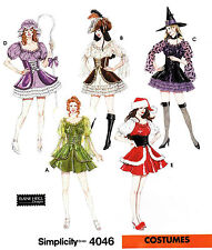 Simplicity Sew Pattern 4046 Sexy Fairy, Bo Peep, Witch Costume   6-12