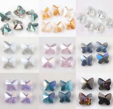 10/20PCS Faceted Butterfly Glass Crystal Loose Spacer Bead Charm Jewelry 8*5mm