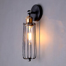 EDISON VINTAGE WALL LIGHT Copper Lampholder Retro Long Cage Wall Lamp Fixtures