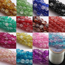Czech Glass Crackle Cracked Loose Spacer Round Crafts Beads 6mm 8mm 10mm