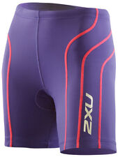 NEW 2XU TRI SHORTS WOMEN ACTIVE SMALL S TRIATHLON TRAINING CYCLING PURPLE