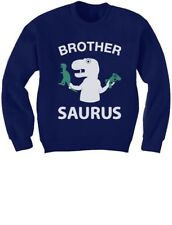 Brother Saurus - Cute Boy T-Rex Big Brother Gift Idea Kids Sweatshirt Raptor