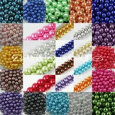 Top Quality Czech GLASS PEARL Round & Loose BEADS Choose - 4/6/10/12/14/16MM