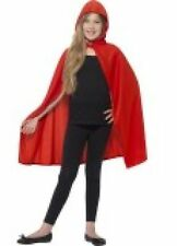 RED HOODED POLYESTER CAPE FAIRY TALE FANCY DRESS GIRL'S HALLOWEEN COSTUME PARTY