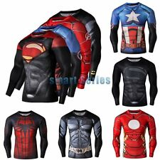 Men's Compression Marvel SuperheroT-Shirts Gym Sport Fitness Top Bicycle Jersey