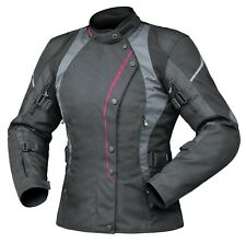 Dririder Vivid Ladies Sports Touring Motorcycle Jacket Candy Blk/pink Sizes 8-22