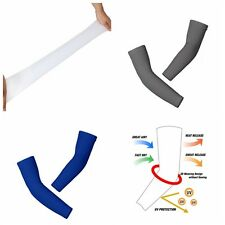 1 Pair Outdoor Sports Basketball Cycling Sun Protective Arm Sleeves Solid Color