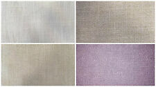 Voyage Natural Look Plain Cotton/Linen Curtain Upholstery Fabric | 4 Colours