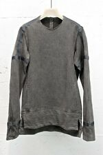 Devoa Long Sleeve. Silk & Cotton Jersey Charcoal Dyed Imported Japan F/S