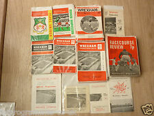 Wrexham Home Programmes 1962/63 to 1974/75 .  Select from list