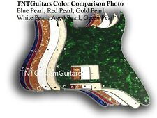 Dragonfire Strat Pickguard ONE HUMbucker, PEARL Color & Hole Position Choices