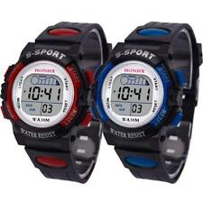 Waterproof Children Boys Sports LED Digital Kids Alarm Date Wrist Watch