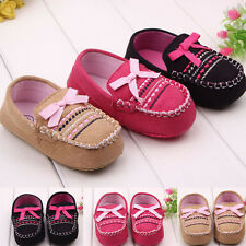 Kids Infant Newborn Baby Girl Boy Soft Shoes Booties Soft Bottom Crib
