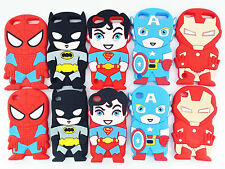 Super Heroes Collection Silicone Soft Back Case Cover Skin For iPod Touch 4 5 6