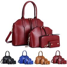 4Pcs Fashion Women Leather Shoulder Bag Handbag Satchel Purse Hobo Messenger Bag