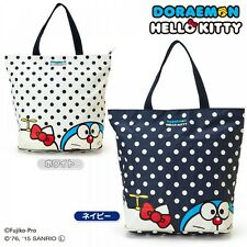 Hello Kitty x Doraemon Folding Tote Shopping Bag Handbag Sanrio from Japan S5140