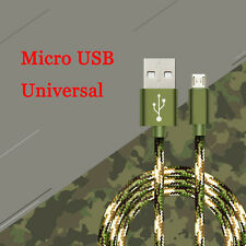 0.25/1/1.5M Nylon Braided Micro USB Quick Data&Sync Charger Charging Cable Cord