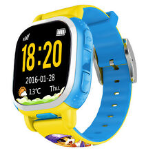Kids Tencent QQ Smart Watch Locator GPS SOS Safety LBS SMS Wifi Call Pedometer