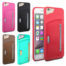 Luxury Slim PU Leather Skin Credit Card Wallet Case Cover for Apple iPhone 6S 6