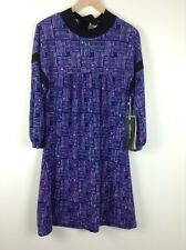 MILK and HONEY Sz 10 Purple Quirky Star Print Dress BNWT