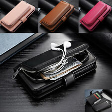 Leather Wallet Card Zipper Removable Pouch Holder Case Cover For iPhone 6 6sPlus