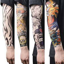 1/2PCS Nylon Fake Temporary Tattoo Sleeve Arm Stockings Tatoo For Men Women