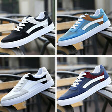 Breathable Men Low Top Fashion New Comfortable Casual Canvas Lace-Up Running