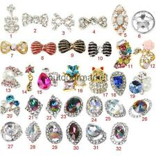 DIY Nail Art 10 Pcs Set 3D Bling Rhinestone Charm Glitter Flower Decorations
