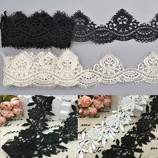1 Yard DIY Lace Trim Ribbon Bridal For Wedding Dress Sewing Embroidered Craft