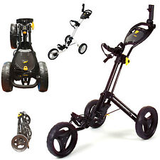 POWAKADDY TWINLINE 4 GOLF TROLLEY 3 WHEEL GOLF TROLLEY *NEW* BLACK OR WHITE