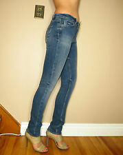 $242 Celeb Fave MiH Made In Haven London Slim Leg High Rise Jeans Cove Dark 25