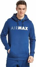 NIKE AIR MAX FLEECE HOODY HOODIE BLUE SIZE S M L XL **BNWT**