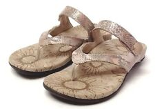 Orthaheel Vionic Cocoa Thong Sandal w/ Jewel. Arch support