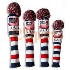Wool Knit US Flag Golf Driver/Fairway Wood/Hybrid Headcover Cover for all Brands
