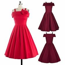 New Gorgeous Womens Ladies Dress Vintage 50s Prom Cocktail Evening Party