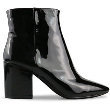 Wittner Ladies Shoes Black Patent Boots