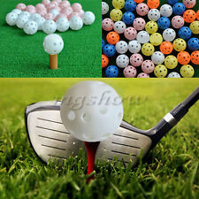 20pcs LightWeight Plastic Airflow Hollow Perforated Golf Practice Training Balls