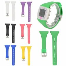 Silicone Rubber Watch Band Wriststrap w/Buckle For POLAR FT4 FT7 HR Sport Watch