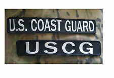 U.S. Coast Guard - Large Patch - Two Options - Hook / Loop backing - NEW 2 PACK