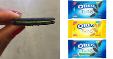 NABISCO OREO THINS Creme Filled Sandwich or Chocolate Covered Cookies NEW