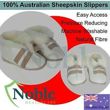 100% Australian Sheepskin Medical Slippers With Easy Access, Pressure Reducing