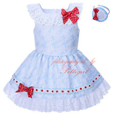Girls Princess Tutu Dress Summer Party Wedding Christening Communion Lace Bow