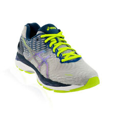Asics - Gel Nimbus 18 Running Shoe - Silver/Ink/Flash Yellow