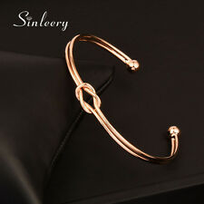 2016 Fashion Knot Smooth Bangle Cuff For Women 18K White/Rose Gold Plated SL303