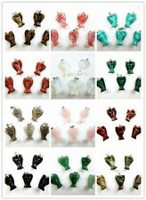 5PCS Wholesale mixed color mixed material carved angel pendant bead