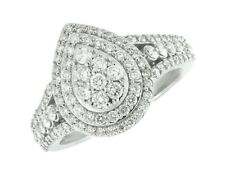 Women's 14k White Gold Pear Split Shank Real Diamond Engagement Ring 1.75 ct