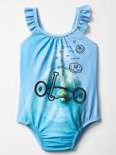 BABY GAP GIRLS SWIMSUIT ONE PIECE DOLPHIN BLUE SIZE 18-24 MONTHS 2 3 4 YEARS NEW