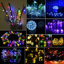 30-50 Led Solar Powered Outdoor Fairy String Lights Christmas Garden Party Lamp